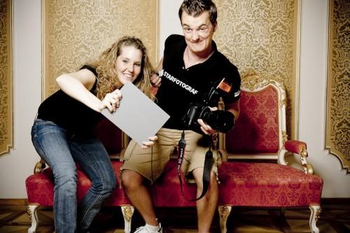 Assistentin, Graukarte, Kamera, Starfotograf - dann kann ja nichts mehr schiefgehen :)