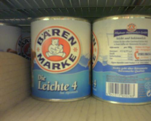 ...oder die Leichte 4? Tolle Produktnamen bei Bärenmarke. Adjektive schreibt man übrigens auch im Allgäu klein.