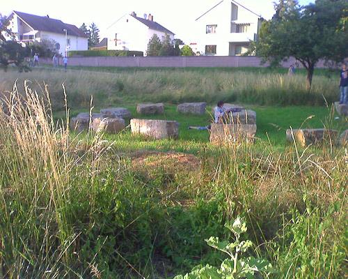Am Ginsheimer Altrhein: Stonehenge für ganz arme