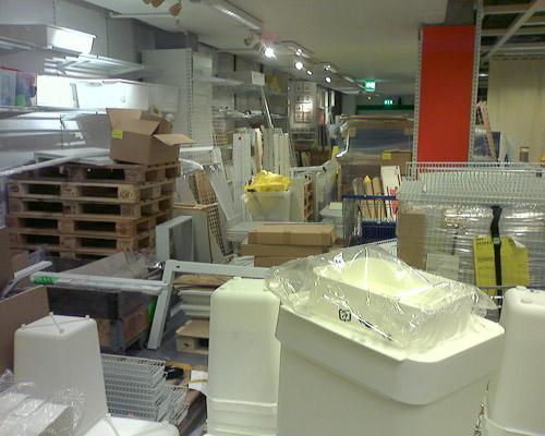 Das ist kein Abstellraum, sondern Ikea beim Umbau