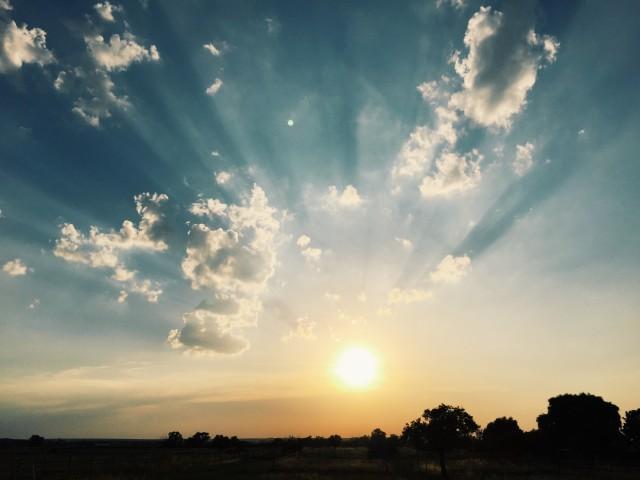 Sonnenuntergang im hessischen Ried