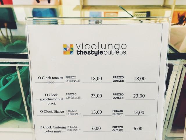 Antisparen im Style Outlet Vicolungo