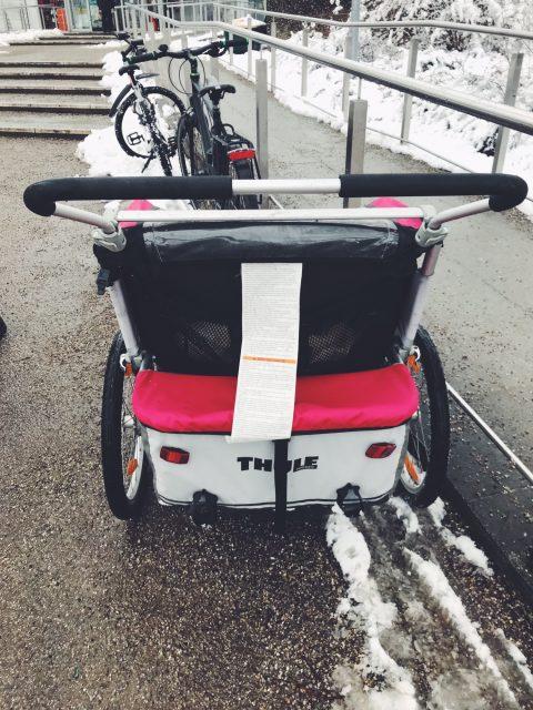 Neu: Kinderwagen mit Faxgerät