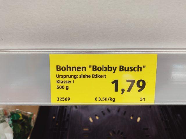 Bobby die sympathische Buschbohne